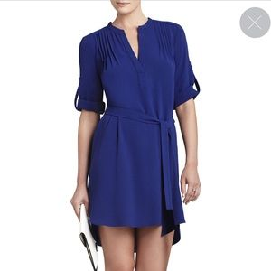 BCBGMaxAzria Tesa Long-Sleeve Pintucked Shift
